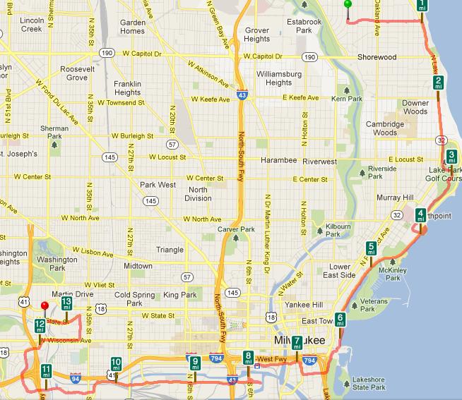 Miles In Milwaukee Wisconsin With Kirstin Leih A Good Run - Summerfest grounds map