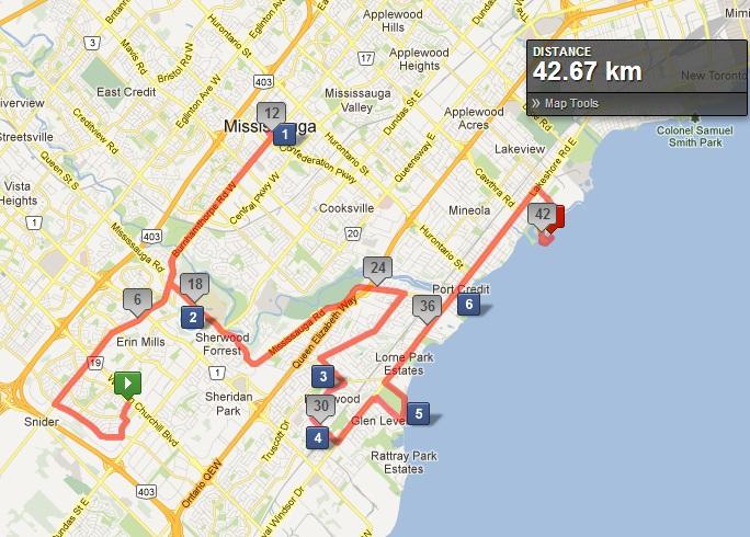 Landmark Course Map